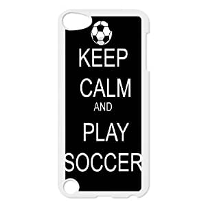 K-G-X Phone case FOR Ipod Touch 5 Case-Pattern-12 Love Football Protective Back Case