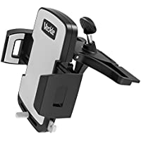 Car Mount, Veckle Car Phone Mount CD Holder for Car with Release Button iPhone Car Mount CD Slot Mount for iPhone 8 7 Plus, Samsung S8, HTC, OnePlus, Nexus, GPS and More, Black