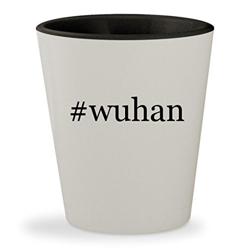 Hi Bell Thin - #wuhan - Hashtag White Outer & Black Inner Ceramic 1.5oz Shot Glass