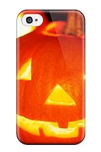 Premium Halloween Jack O Lantern Heavy Duty Protection Case For Iphone 4/4s