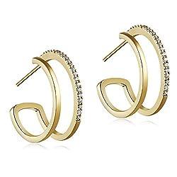 Elegant and Versatile Artificial Crystal Earrings
