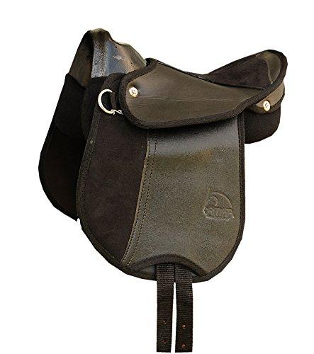 Ponysattel Pony Reitkissen JULIA schwarz mit Haltegriff auch für Holzpferd ohne Zubehör, 10