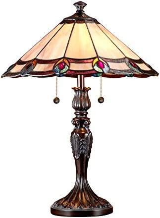 Dale Tiffany TT101081J Aldridge Peacock Table Lamp