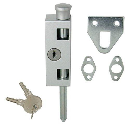Patio door lock with key