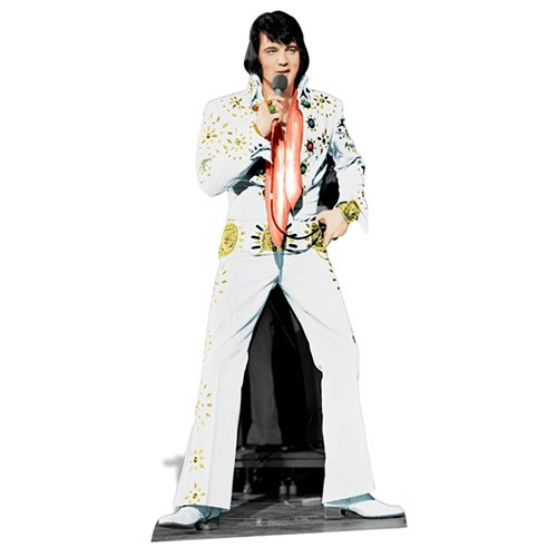 Elvis Presley Cardboard Cutout Life Size Standup White Jumpsuit (Elvis Stand Up)