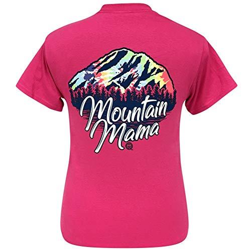 Girlie Girl Originals Tie Dye Mountain Mama Heliconia Short Sleeve T-Shirt (Medium) ()