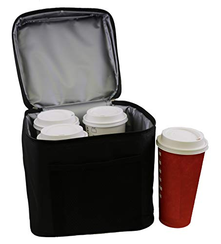 BevBag Insulated Beverage Carrier (Black, 4-Cup Carrier Without Tray). Click on BevBag Above to See 3 Other Color Options and Also 2-Cup Carrier BevBag. Cups not Included