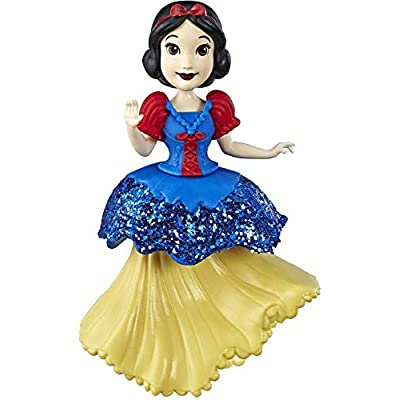 Disney Princess Snow White Collectible Doll with Glittery Blue & Yellow One-Clip Dress, Royal Clips Fashion Toy: Toys & Games