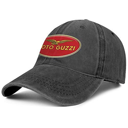Mens Womens Moto-Guzzi-Motorcycle-Logo- Adjustable Classic Golf Hats Trucker Washed Dad Hat - Guzzi Jacket Moto