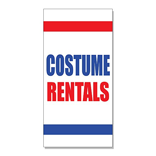 Costume Rentals DECAL STICKER Retail Store Sign - 14.5 x 36 inches (Rental Costumes)
