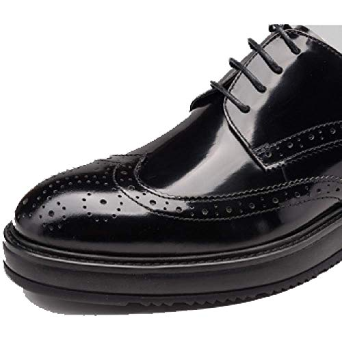 Atmosfera Pelle Broch Black Rotonda Uomo in Stringate da Testa Scarpe Scarpe Business Moda Comfort Casual twqpOxnB