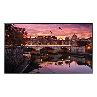 Samsung QB55R 55 inch 4K UHD 3840x2160 LED Commercial Signage Display for Business with HDMI, Wi-Fi, and 3-Year Warranty, 350 nit (LH55QBREBGCXZA)