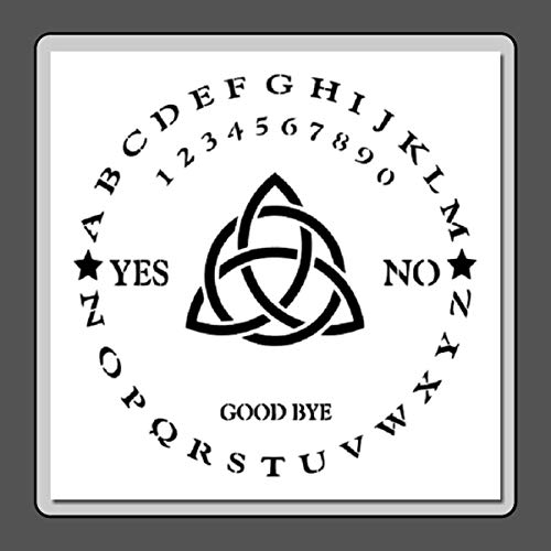 (12 X 12 Stencil Template Round/Circle Ouija Board w/Triquetra Witch/Ghost/Celtic/Wiccan)