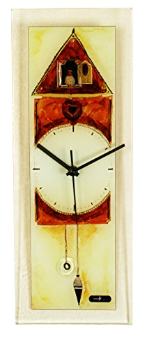 River City Clocks Rectangle Glass Wall Clock with Cuckoo Design