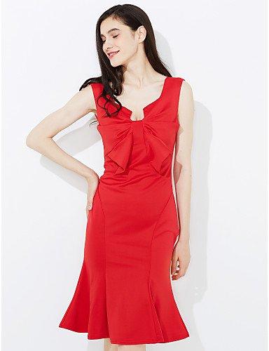 Hombro Rojo Slim Fiesta Mujer Vestido JIALE3536 De Fiesta Del Vestido De Del Sin Parte Fuera Mujeres Mangas Trabajo Las q4UOOwxT5