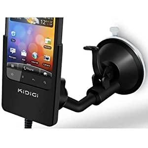 Support voiture Kidigi ( chargeur intégré, ventouse et clip aération ) pour HTC Incredible S