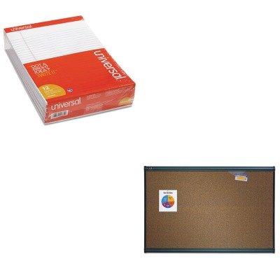 KITQRTB247GUNV20630 - Value Kit - Quartet Prestige Bulletin Board (QRTB247G) and Universal Perforated Edge Writing Pad (UNV20630) by Quartet