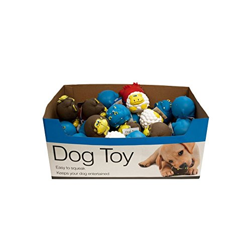 Animal Characters Dog Squeak Toys Counter Top Display - Set Of 48 (Pet Supplies, Pet Toys ) by StarSun Depot