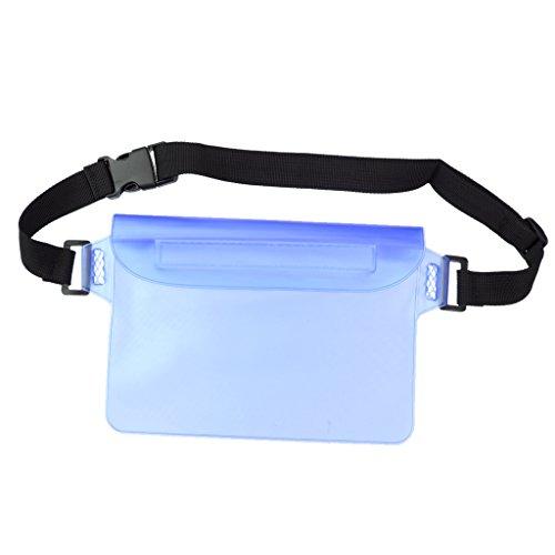 MagiDeal Waterproof Waist Pouch Dry Bum Bag Travel Beach Swimming Drifting Boating Kayaking Fishing Hiking Camping - ()