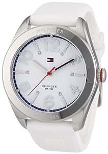 Tommy Hilfiger 1781255 - Reloj de cuarzo para mujer, correa de silicona color blanco