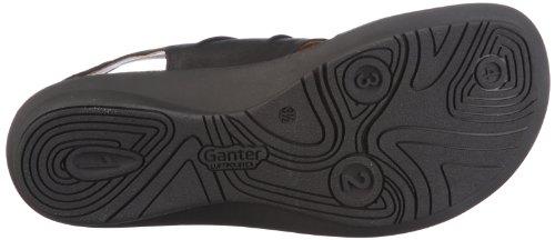 Ganter Fairy, Weite F 1-203110-0100 - Sandalias de cuero para mujer Negro