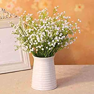 Liinmall 6 Branches Sky Star Artificial Flowers Pastoral Style Baby Breath Tabletop Flower Home Decor 2