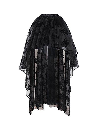 Bslingerie Femme Gothic Punk Grande Taille Jupes Imprim Floral