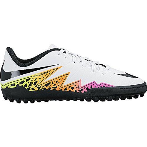 Nike Kids Hypervenom Phelon Turf White/Black/Total Orange Shoes - 10.5C