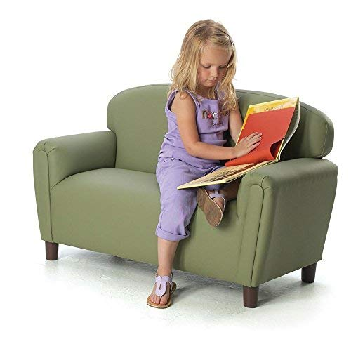 Brand New World Furniture FP2S100 Brand New World Preschool Enviro-Child Upholstery Sofa, Sage by Brand New World Furniture