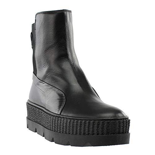 PUMA Unisex Puma x Fenty by Rihanna Chelsea Sneaker Boot Puma Black 5.5 Women / 4 Men M US Adult Black Platform Boots