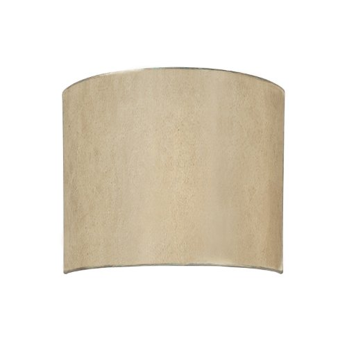 Capital Lighting 1017WG-526 Luna 2LT Wall Sconce, Winter Gold Finish and Moonlit Mica Shade ()