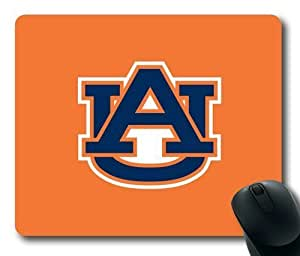 Auburn Tigers Logo on Orange Rectangle Mouse Pad by eeMuse