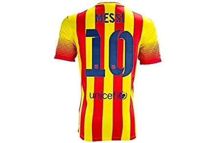 sports shoes 839b4 8aaf1 Amazon.com : ProApparels Messi Jersey Barcelona Away 2013 ...