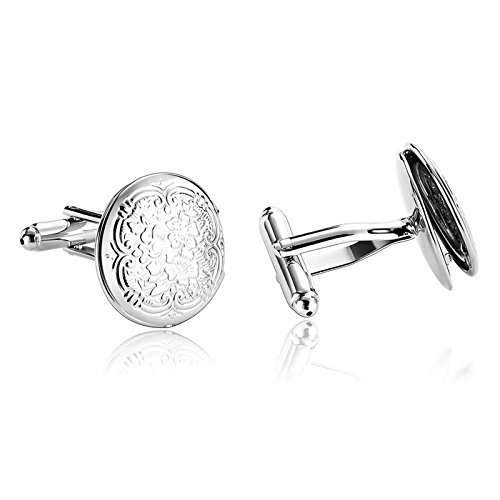 Aooaz Jewelry Cufflink Clouds Flower S Shirt S Shirt Cufflink Silver B Stainless Steel Cufflink For Men