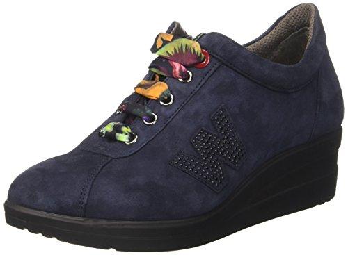 Basso Blu a Collo Notte Donna Sneaker MELLUSO R25802 Unxvw4aBq7