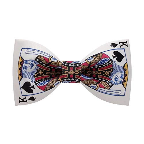 Lanzonia Funny Bow Ties for Men, Novelty Designer Poker Bowtie for Wedding Party Prom Graduations
