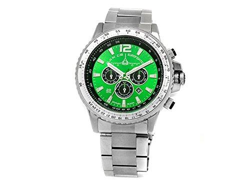 Reloj Aviador Typhooan acero 20 atm esfera verde, Ala 14: Amazon.es: Relojes