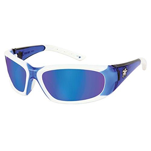 CREWS, INC. Blue Mirror Safety Glasses, Scratch-Resistant