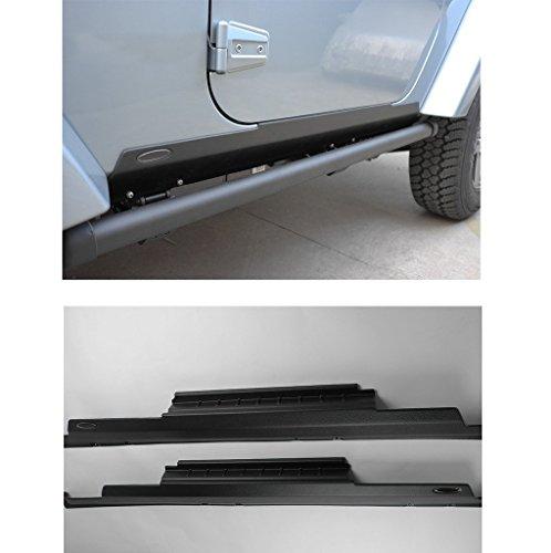 Liquor Car New For Jeep Wrangler JK 2 Doors 2007-2015 2008 2009 2010 2011 2012 2013 2014 Pair Left & Right Low Rocker Panel Side Skirt Entry Sill Guard Cover