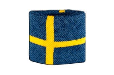 Flaggenfritze Schweißband Motiv Fahne/Flagge Schweden + gratis Aufkleber