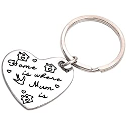 LParkin Home Is Where Your Mom Is Keychain (white)