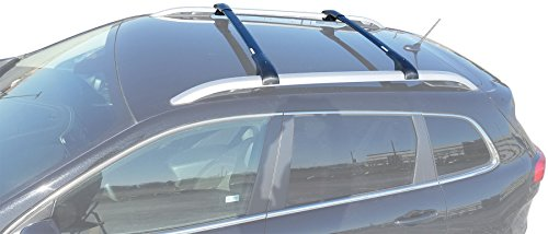 - BRIGHTLINES 2014-2019 Jeep Cherokee Aero Crossbars Roof Racks