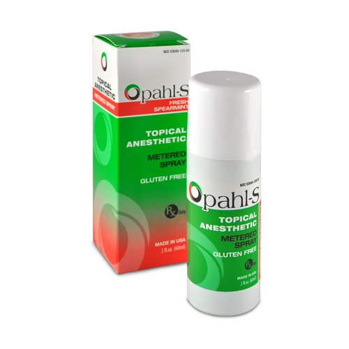 Opahl-S 06-00060 20% Benzocaine Metered Spray Topical Anesthetic, Fresh Spearmint Flavor, Can x 2 fl. oz.