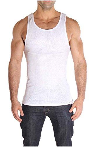Knocker Mens Tank Top Cotton Ribbed A-Shirt Undershirt 3 Pack White -
