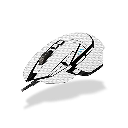 MightySkins Skin Logitech G502 Proteus Spectrum Gaming Mouse - White Carbon Fiber | Protective, Durable Unique Decal wrap Cover | Easy to Apply, Remove Change Styles | Made in The USA