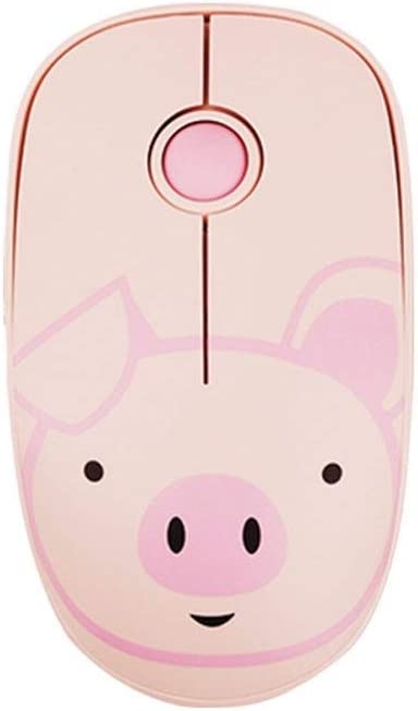 Rechargeable Office Desktop Laptop Wireless Mouse Cartoon Mouse Mute Wireless Mouse Color : Brown DHINGM Wireless Mouse