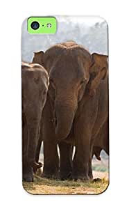 Hot Style Mjijnr-6852-qsxxscf Protective Case Cover For Iphone5c(elephants ) For Thanksgiving Day's Gift