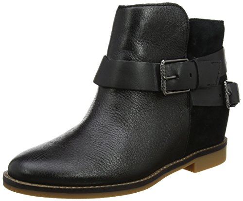 Hush Puppies Ladies Baubie Felise Biker Boots Nero (nero)