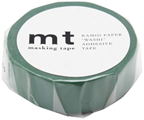MT Kamoi Kakoshi KMMT-MKT1PB-AV Ruban de Masque Japonais Repositionnable Papier Adh/ésif /à Base de Fibres V/ég/étales Vert Bouteille 1000 x 1,5 cm