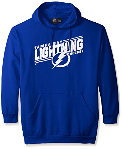 NHL Tampa Bay Lightning Men's Lightinings Fleece Pullover Hoodie, 3X, Royal ()